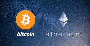 Ethereum et bitcoin photo